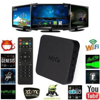 Harga niceEshop MXQ S805 Quad Core Android 4.4 TV Box Media Player 1080PHDMI WiFi 8GB (Black)