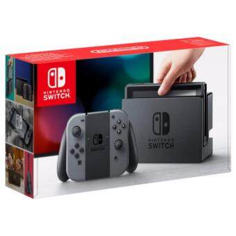 NINTENDO SWITCH CONSOLE (GREY, FREE 2 GAMES + AMIIBOS + SCREEN PROTECTOR)