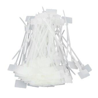 Harga Number Mark Cable Label Tags Ties - White (100 PCS)