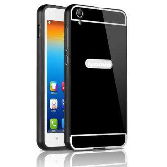 OEM Aluminum Metal Case For Lenovo S850 with HD Screen Protector-Black(Blue)