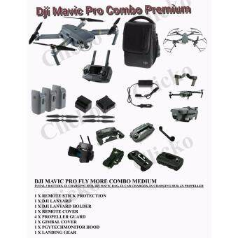 Harga (Official DJI Malaysia Warranty) DJI Mavic Pro Drone Fly More Combo( TOTAL 3 BATTERIES ) FREE GIFTS