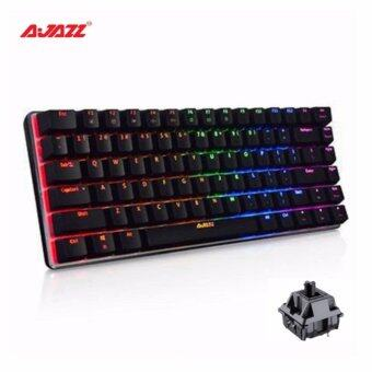 ( Official Malaysia ) A-JAZZ AK33 RGB Mechanical keyboard black switch,82 classic keys Ajazz metal base 1 year warranty wired keyboard gaming keyboard