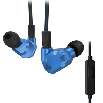 Harga Orginal KZ ZS5 2DD+2BA Bluetooth Wireless Earphones HIFI Monitor DJHybrid Detach MMCX Earphones Noise Canceling Headset-Blue withMicrophone