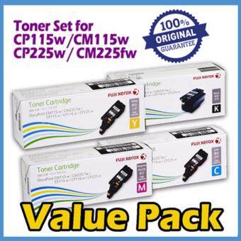 Original Fuji Xerox CP115w/CP225w/CM115w/CM225fw High Capacity Colour Toner (CT202264 + 202265 + 202266 + 202267)