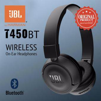 Original JBL T450BT Pure Bass Sound Wireless Bluetooth On-Ear Headphones (BLACK)