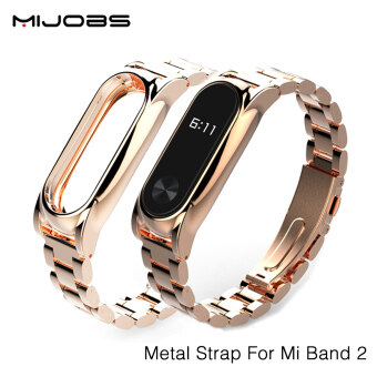 Original Mijobs New Metal Straps For Xiaomi Mi Band 2 BraceletStrap Miband 2 Wristband Replacement Smart Band Accessories For MiBand 2