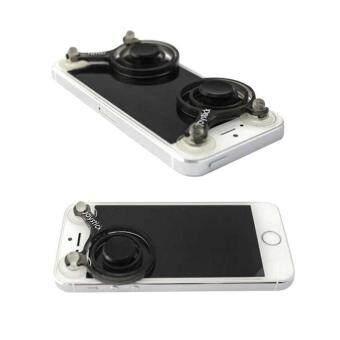 Detail Gambar Pair Fling Mini Joystick Mobile Controller For Mobile Legend FifaShooting game(Black) Terbaru