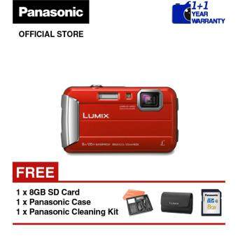 Harga Panasonic Lumix DMC-FT30 Waterproof Digital Camera (Red)