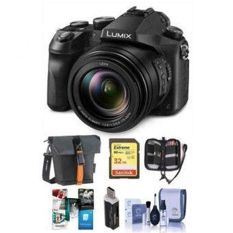 Panasonic Lumix DMC-FZ2500 Digital Camera - Bundle With Camera Case, 32GB SDHC U3 Card, Memory Wallet, Cleaning Kit, SD Card Reader, Software Package