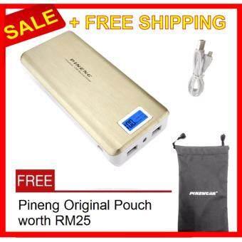 Pineng PN-999 20000mAh Power Bank PN999 Gold +POUCH BAG