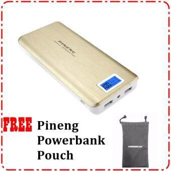 Pineng PN999 20,000mAh PowerBank With 2 USB Port Free Pouch Bag