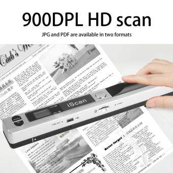 Portable Handheld Mobile Document Scanner Pen Style 900DPI USB 2.0 LCD Display silver