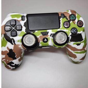 Harga PS4 controller DS4 Silicon cover (Camo white) Free thumb grips