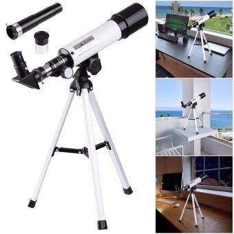 QNIGLO 90X Portable Astronomical Refractor Telescope Silver