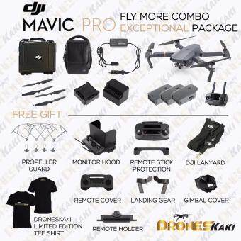 Harga (Ready Stock) DJI Mavic Pro Fly More Combo Exceptional Package (Official DJI Malaysia Warranty)