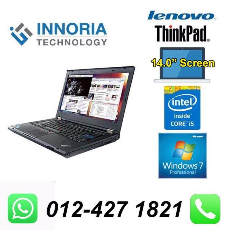 (Refurbished Notebook)LENOVO THINKPAD T430 LAPTOP / i5-3320M / 4GB RAM / 320GB HDD / 14 inch Screen / Windown 7 Malaysia