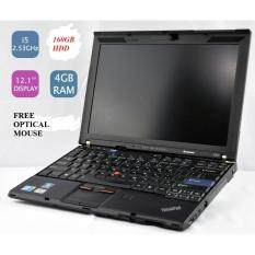 (REFURBISHED)LenovoThinkpad  X201 INTEL CORE i5 2.53 GHZ/4GB RAM/160GB HDD/12.1 LED SCREEN/INTEL HD GRAPHIC/W 7 PRO Malaysia