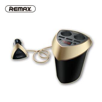 Remax Cup Car Charger Cigarette Lighter Voltage Display Cigarette Lighter Plug Socket Splitter For Phone GPS 3 USB Car Charger