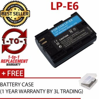 Harga (REPLACEMENT) LP-E6 Battery for Canon 5DIV 5DIV 5DIII 5DII 7DII 7D 6D 5DS 5D 80D 70D 60D XC15 XC10