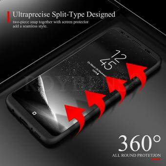ROYBENS 360 Degree Full Body Shockproof Ultra-Thin Hard Case CoverSkin For Samsung Galaxy S8 Black
