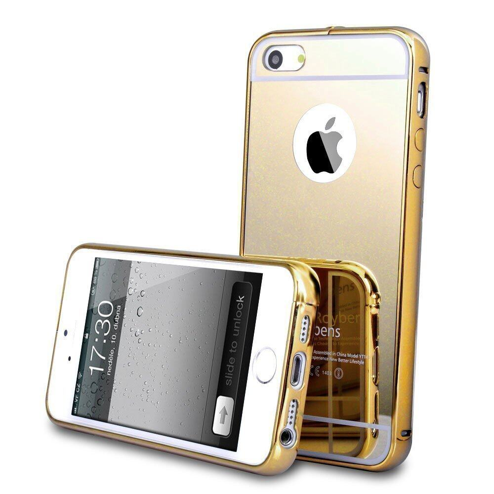 iphone 5s gold case. roybens ultra-thin mirror metal slim case for iphone 5 5s se(gold) | lazada malaysia iphone gold