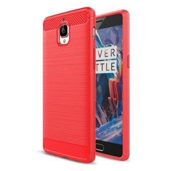 Rugged Armor Cover Shockproof Silicone Brushed Style Case ForOnePlus One Plus 3 3t Carbon Fiber Texture