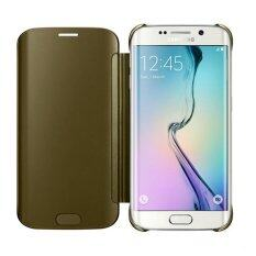 Samsung Galaxy S6 edge Plus 4G Plus Clear View Cover Gold Image