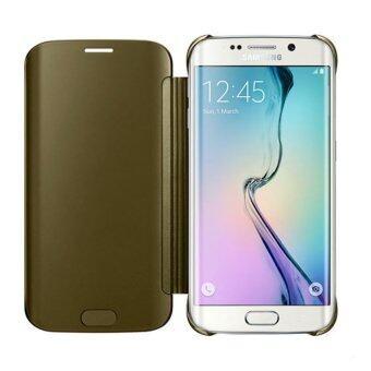 Samsung Galaxy S6 Edge+ / Edge Plus Clear View Cover Case (Gold)