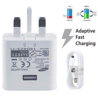 Samsung Note 4 5 S6 S7 Edge 9V Fast Charger with USB Cable (White)