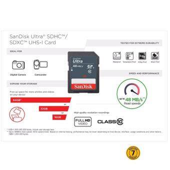 SanDisk Ultra 16GB 48MB/s C10 SDHC UHS-I Memory Card