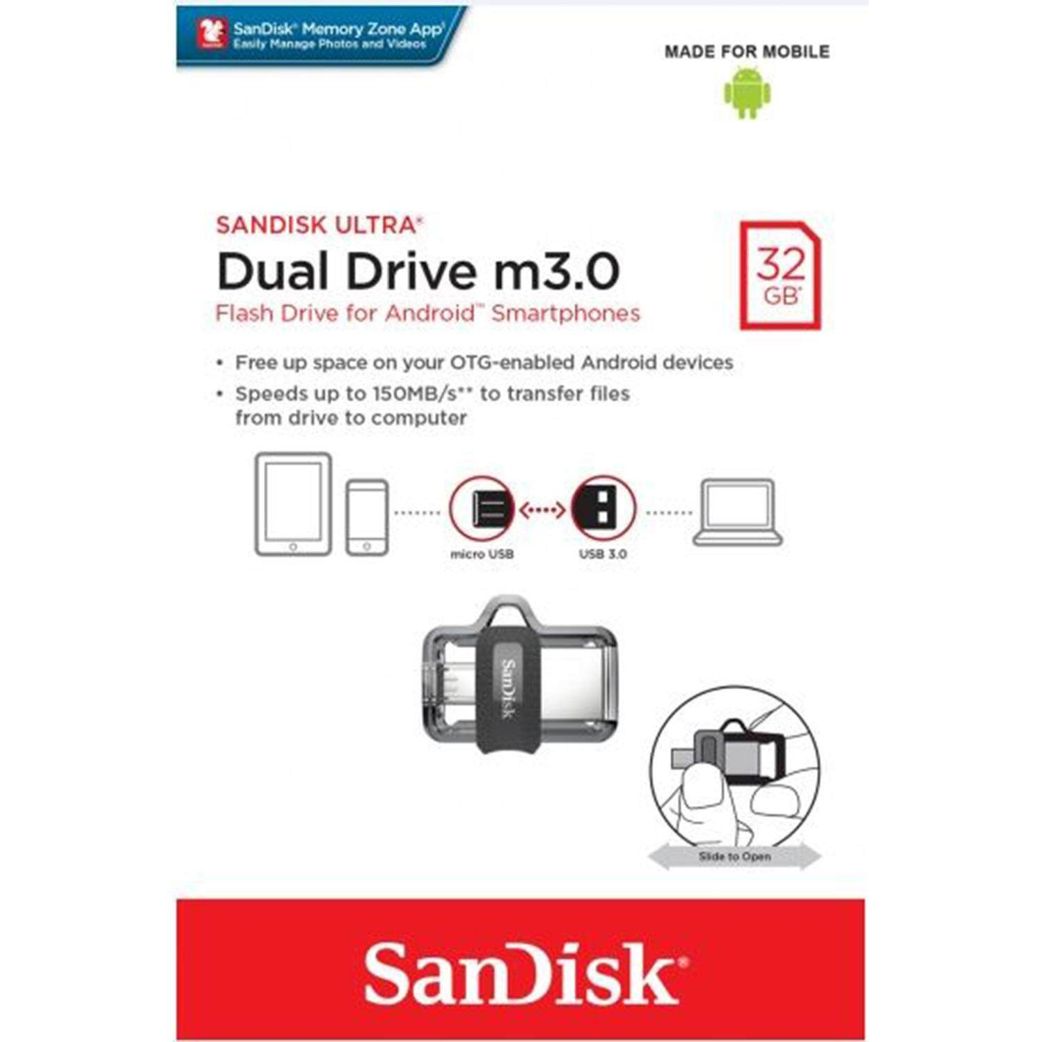 Sandisk Ultra Dual Drive M30 64gb Usb 30 Speed Up To Sddd2 128gb Homependrivessandisksandisk 16gb Pendrives
