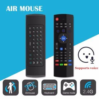 Harga SANHE MX3-M 2.4G Fly Air Mouse Wireless Keyboard Support voiceRemote for Android Smart TV BOX MX MXQ MX3 T8 XBMC