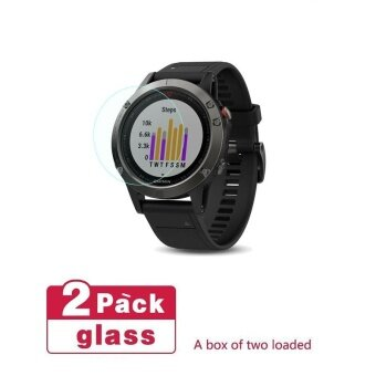 Seeme Garmin Fenix 5 Screen Protector Full Coverage Tempered GlassScreen Protector for Garmin Fenix 5 (2pc)