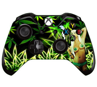 Harga Sexy Green Lady Gift Skin for Xbox ONE X box ONE Controller Sticker Decal