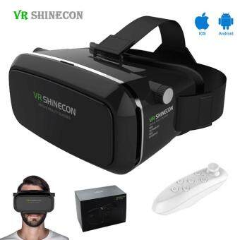Shinecon VR Virtual Reality 3D Glasses Google Cardboard 2.0 VRHeadset 3D VR Box Glasses For 4.7-6 inch Smart phone+ Gamepad