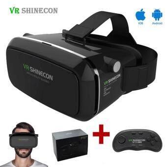 Shinecon VR Virtual Reality 3D Headset Glasses Google Cardboard 3DVR Box Glasses For 4.7-6 inch Smart phone+ Gamepad