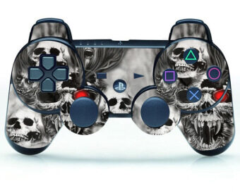Harga Skull Custom Skin Sticker Cover Part for PS3 Controller Playstation3 Games