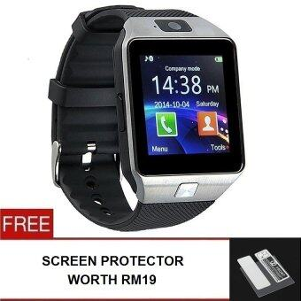 Harga Smart Watch DZ09 New Version 2.0 with Phone/Camera/Bluetooth/MMC -Free Screen Protector