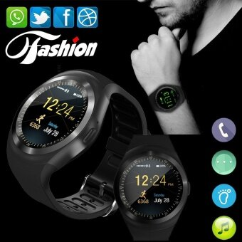Harga Smart Watchs Y1 Round display support Nano SIM &TF Card WithWhatsapp and Facebook Men Women Business Smartwatch For IOS/Android