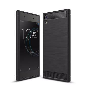 Soft Silicon Brushed Case with Texture Carbon Fiber DesignProtection Cover for SONY Xperia XA1