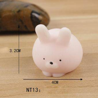 Soft Silicone Hand Fidget Squishy Toy Squeeze Pinch Toy - Fat Cat, Size: 4 x 3.2cm