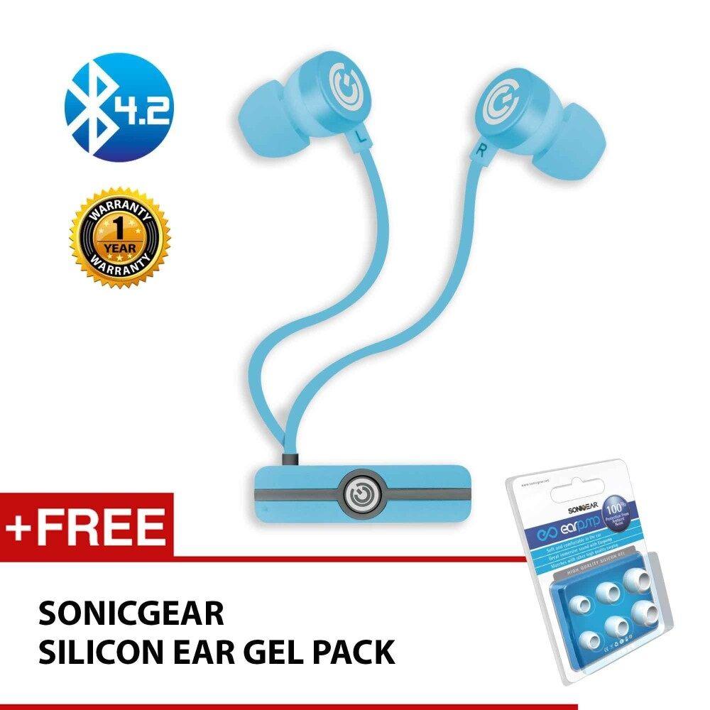sonicgear earpump sport 100 wireless bluetooth earphones with high