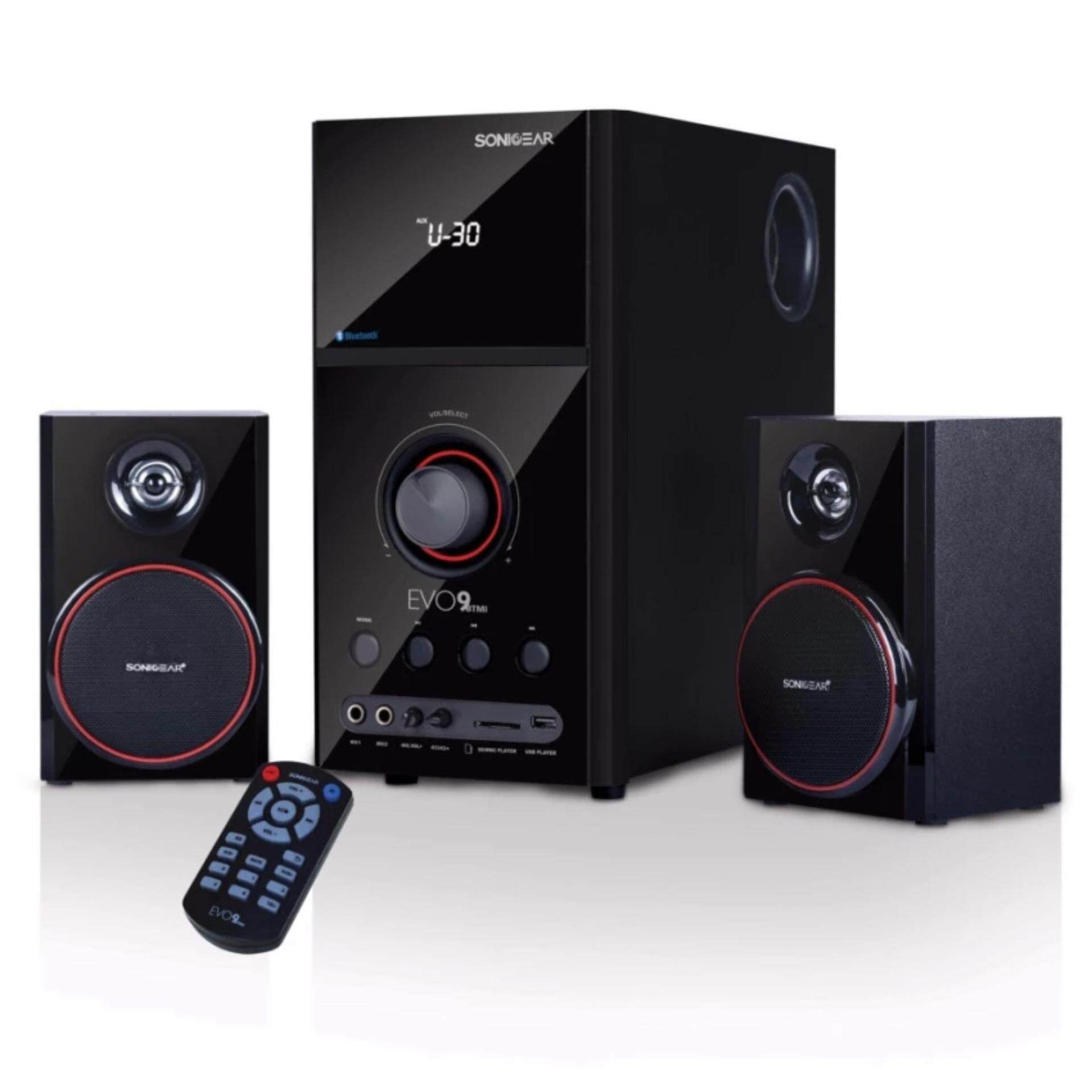 SonicGear Evo 9 BTMI Bluetooth Multimedia Speaker New Model with Bluetooth , FM Radio , SD Slot , USB Slot ,Aux Input Malaysia