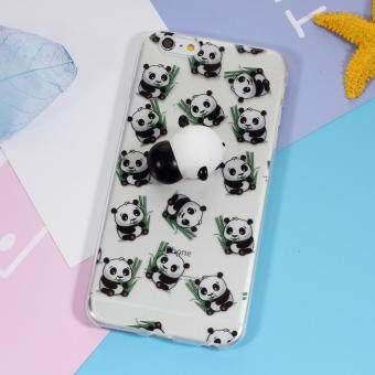 Squishy 3D Silicone Kneading Panda TPU Mobile Phone Case for iPhone6s 6 - Panda Pattern