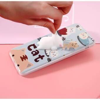 Squishy 3D Soft Silicone Cat Squish TPU Phone Case for iPhone 7
