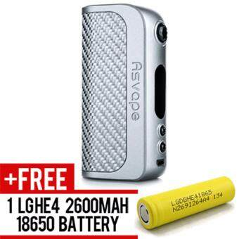 Harga Super Fast Marketing - ASVAPE STRIDER 75W BOX MOD (SILVER)Mod ForVape And Electronic Cigarettes +1 LGHE4 YELLOW BATTERY