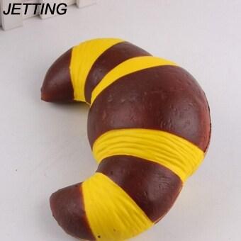 super slow rising jumbo 18cm Croissant soft squishy charm Bake Sweet Cake Cream Scented Bread Kid Toys Gift Phone Straps