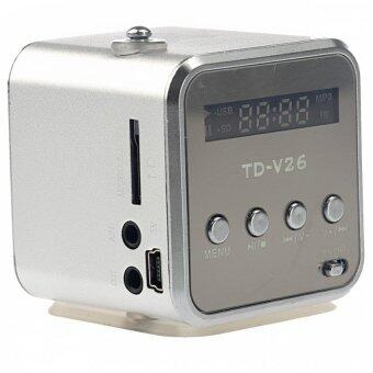 Harga TD-V26 Radio FM Music Box With Mp3 Player Functions. Micro SD, USB, Speaker (Silver)
