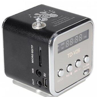 Harga TD-V26 Radio FM Music Box With Mp3 Player Functions. Micro SD, USB,Speaker (Black)