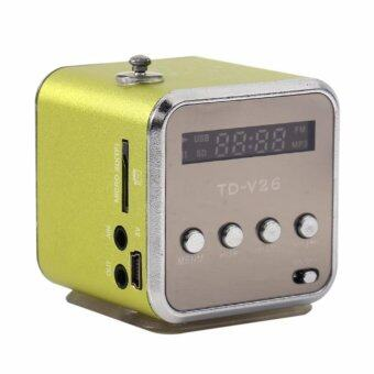 Harga TD-V26 Radio FM Music Box With Mp3 Player Functions. Micro SD, USB,Speaker (Green)